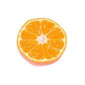 Slice of ripe tangerine isolated on white — Stock Photo