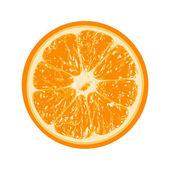 Свежий апельсин, изолированные на белом фоне — Cтоковый вектор