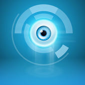 Abstract background with eye — Stock Vector