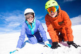 A couple on mountain vacation. Dolomiti Superski, Itlay — Stockfoto