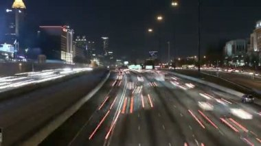 Atlanta Interstate 85 Time Lapse with Zoom — Stock Video