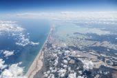 Yucatan Mexico Coast Aerial — Stock Photo