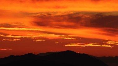 Ventura County California Sunset Time Lapse Zoom — Stock Video