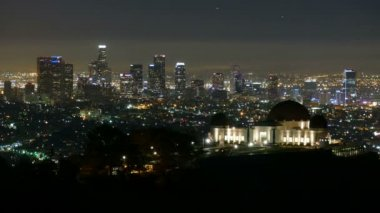 Griffith Park Observatory Night to Day — Stock Video