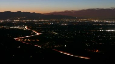 San Fernando Valley Night to Day Time Lapse — Stock Video