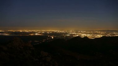 Los Angeles Mountain View Dusk to Night Time Lapse — Stock Video