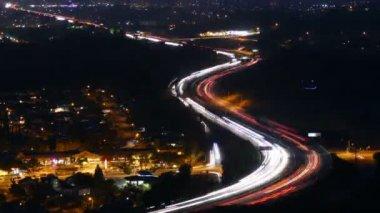 Southern California Freeway near Los Angeles — Stock Video