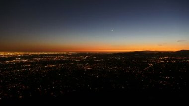 Los Angeles and Pasadena Dusk to Night Time Lapse — 图库视频影像