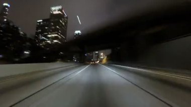 Los Angeles Night Driving Time Lapse — Stock Video