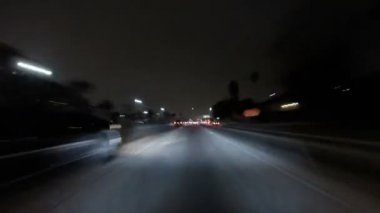 Los Angeles Night Freeway Time Lapse — Stock Video