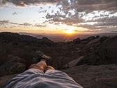 Kicked Back California Sunset — Stock Photo