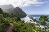 Na Pali Coast Trail Kauai — Stock Photo