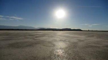 El Mirage Dry Lake Desert Driving Time Lapse — Stock Video