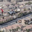Las Vegas Police Helicopter in Flight — Stock Photo #64630677