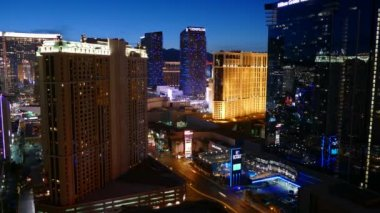 Las Vegas Strip Twilight Time Lapse — Vídeo de stock