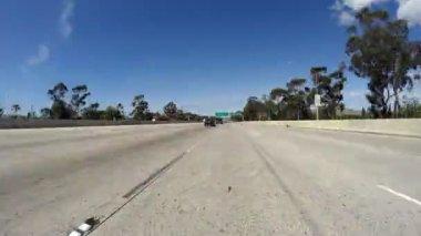 San Fernando Valley 118 Freeway Time Lapse — Stock Video