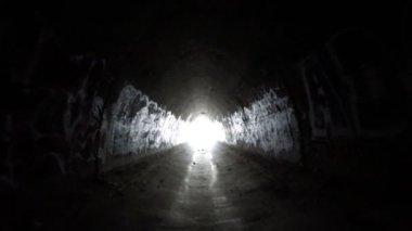 Graffiti Tunnel Under Los Angeles Freeway — Stock Video