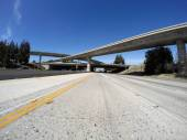 Los Angeles Freeways in San Fernando Valley — Stock Photo