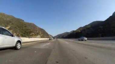 Los Angeles 405 Sepulveda Pass Freeway Time Lapse — Stock Video