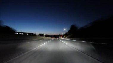 San Fernando Valley 118 Freeway Twilight Time Lapse — Stock Video