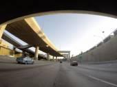 Double Deck Freeway Los Angeles — Stock Photo