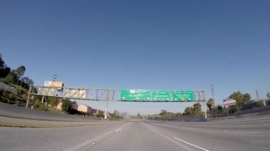 Los Angeles 101 Freeway Sign — Stock Video