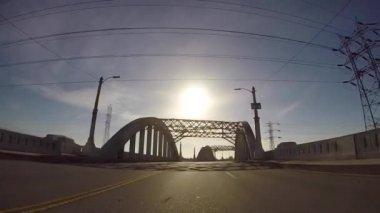 6th Street Bridge Los Angeles — Stock Video