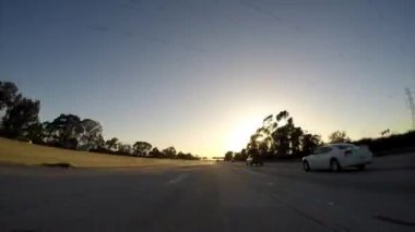 California Freeway Sunset Time Lapse — Stock Video