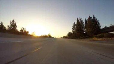 Лос-Анджелес шоссе Рассвет — Стоковое видео