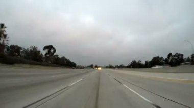 Los Angeles 118 Freeway Rear View Morning Time Lapse — Stock Video