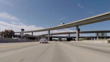 San Diego 405 Freeway South at 105 Freeway near LAX — Stock Video