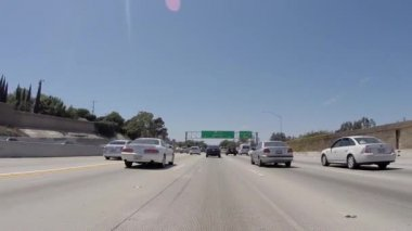 Los Angeles 405 San Diego Freeway North to Santa Monica Sign — Stock Video