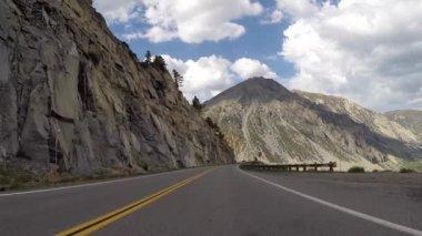 Mountain Driving Yosemite National Park — Stock Video