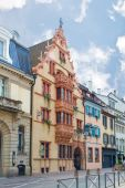House of heads in Colmar.  France. Europe  — Stock Photo