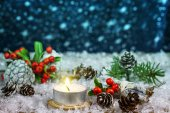 Christmas background with Christmas decorations.  — Stock Photo
