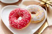 Delicious doughnut with confectioner's sugar. — Stockfoto