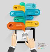 Business technology bubble speech — Stock Vector