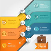 Timeline infographic template — Stock Vector