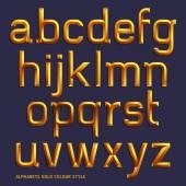 Alfabe altın renkli style — Stok Vektör