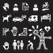 Insurance icons set. Vector Illustration. — Stock Vector #64037691
