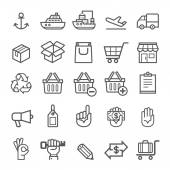 Business transportation element icons. Vector illustration — Stock Vector