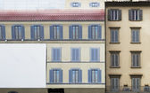 """Trompe l oeil"" on residential  building — Stock Photo"