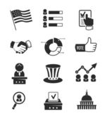 Voting and elections icon set — Stock Vector