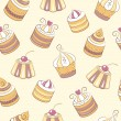 Cupcakes seamless pattern — Stock Vector #65990311