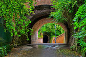 Old tunnel in the garden — Stock Photo