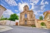 Old church on crossroad — Stock Photo