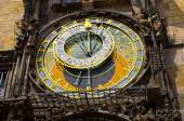 Famous astronomical clock in Prague, Czech Republic — Stock Photo