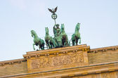 Statue on Brandenburg Gate, Berlin, Germany — Stock Photo