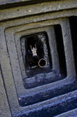 Gun barrel in the bunker  — Stockfoto