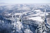 Winter landscape in the hills — Foto Stock